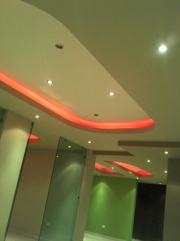 Plafon Decorativo Con Luces Led Indirectas Sicon Servicios De - Luces-indirectas